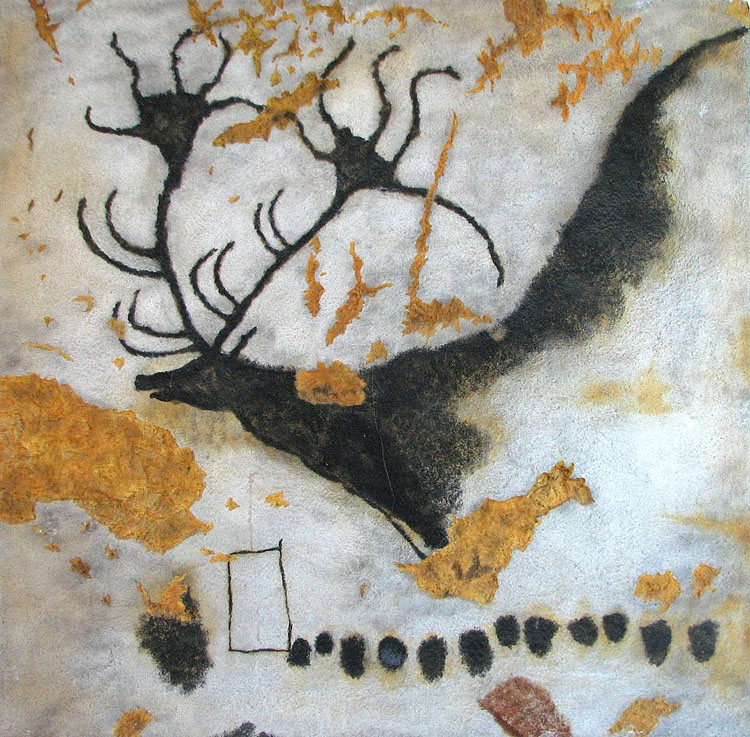 Painting of a deer in the Grotte de Lascaux