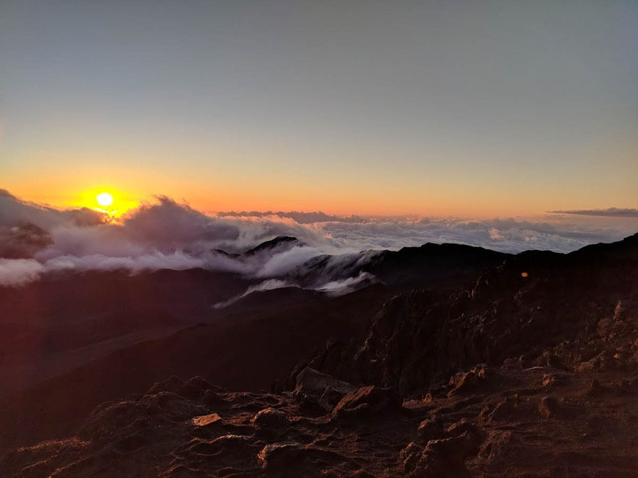 Sunrise from Haleakala National Park