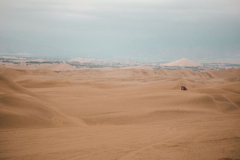 Dune buggy near Huacachina in Peru