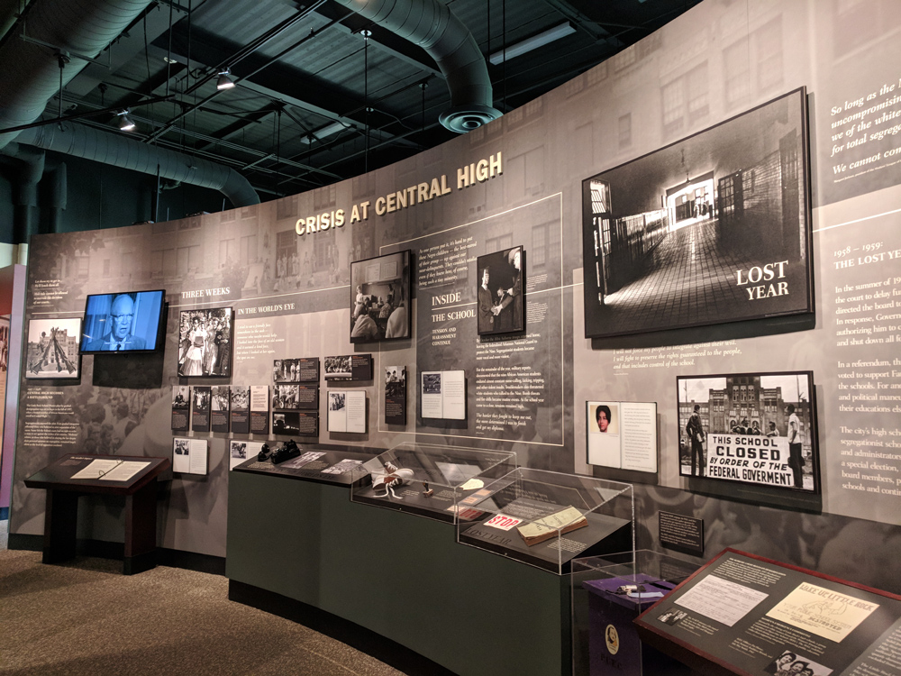 Visitor Center at Little Rock High National Historic Site, one of Arkansas' famous landmarks