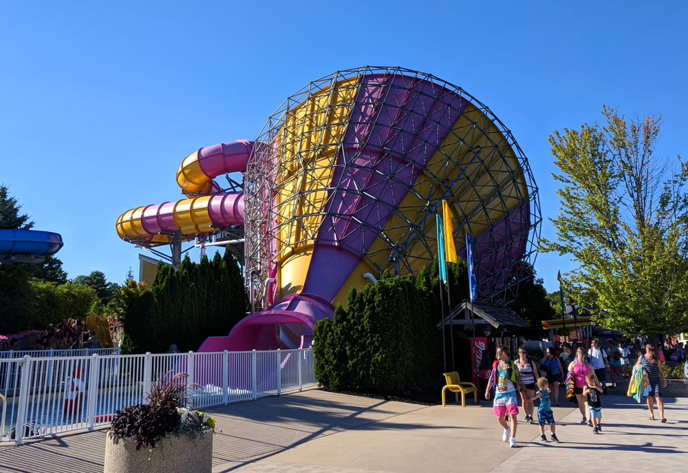 Funnel of Fear waterslide at Michigan's Adventure