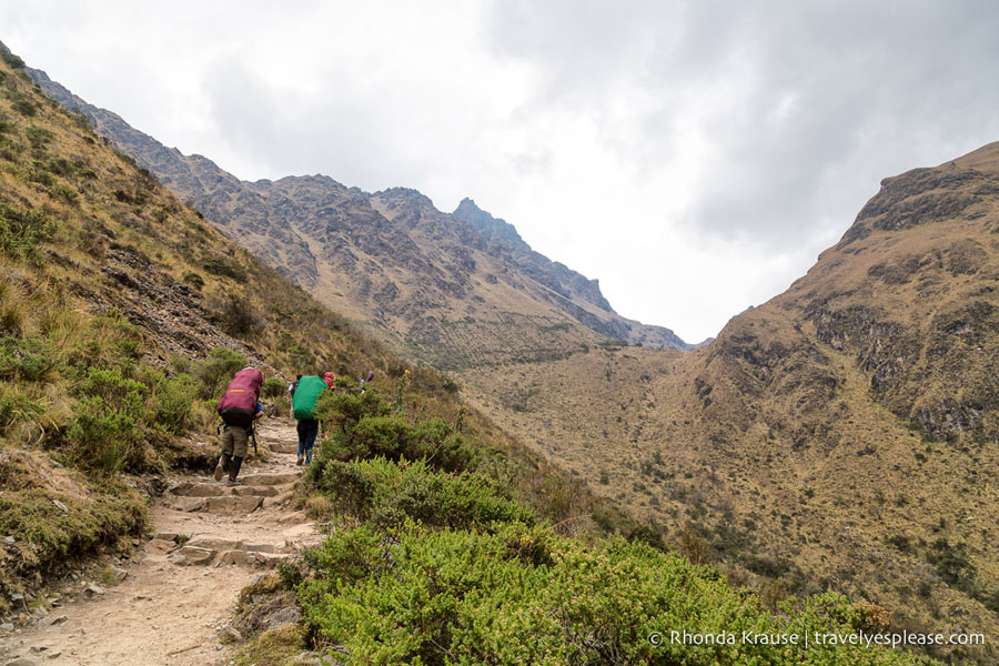 Hikers along the Inca Trail, one of the best Peru hikes
