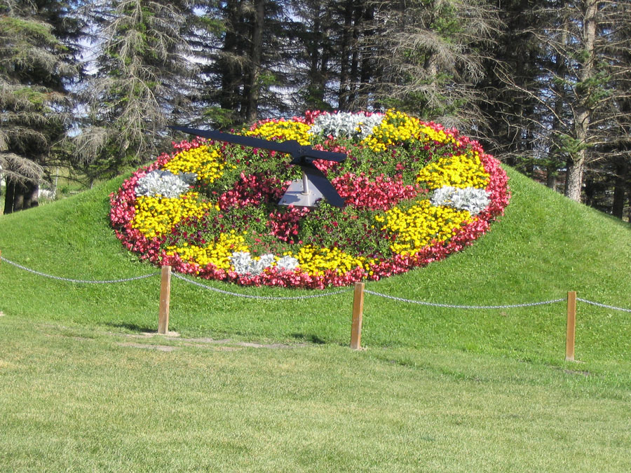Floral clock in the International Peace Garden in North Dakota