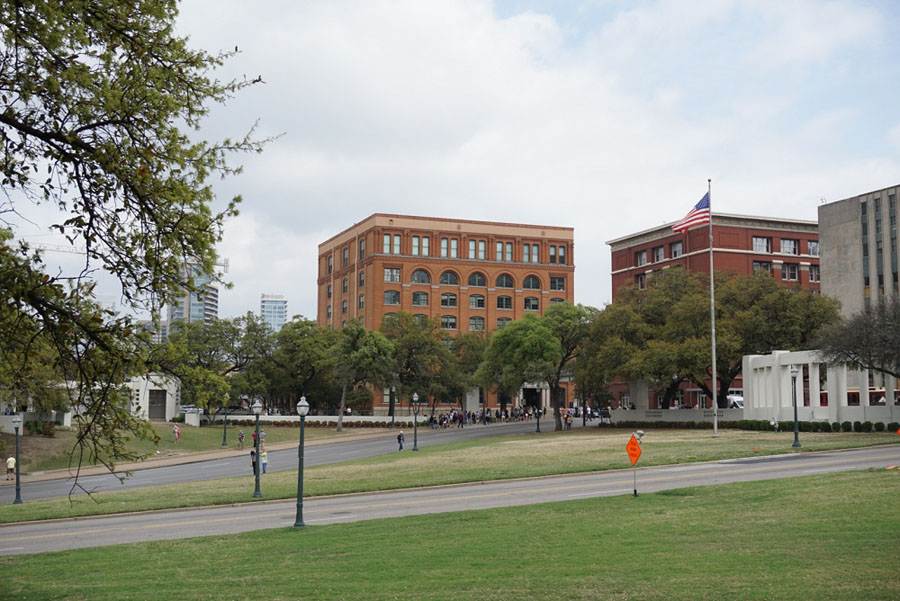 Site of the JFK assassination in Dallas, Texas