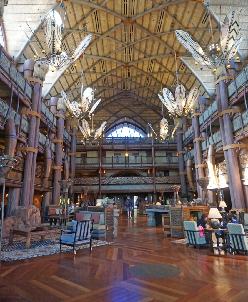Jambo House lobby at the Animal Kingdom Lodge