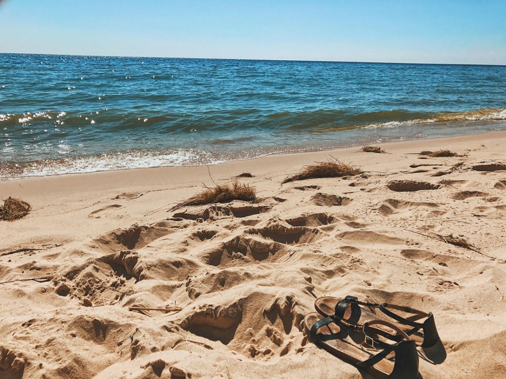 Beach in Ludington, Michigan