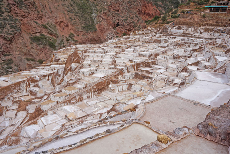Salineras de Maras or the Maras Salt Mines on a Sacred Valley tour in Peru