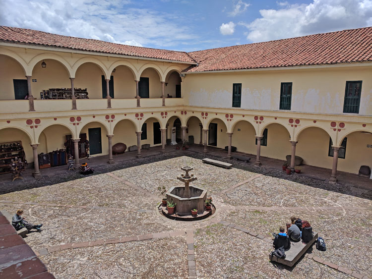 Courtyard in the Museo Inka in Cusco