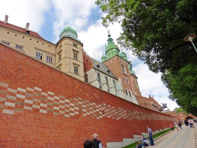 Wawel Castle ramp up Wawel Hill