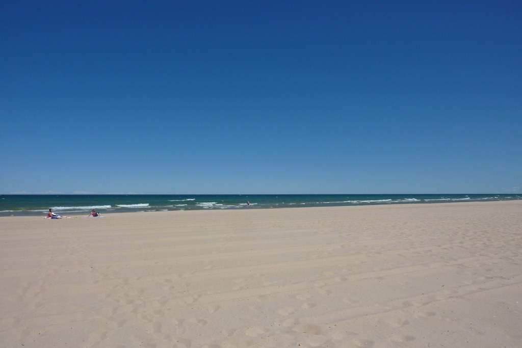 White sand beach in Oscoda Michigan