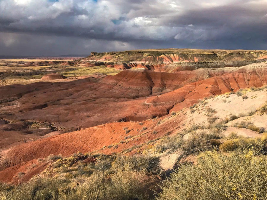 Cloudy skies over the Painted Desert