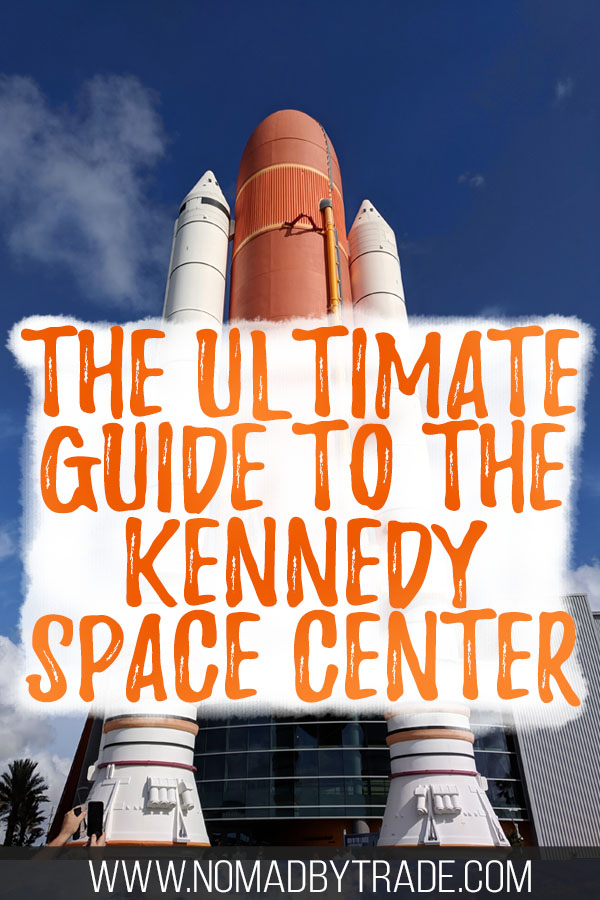 Rocket at the Kennedy Space Center with text overlay