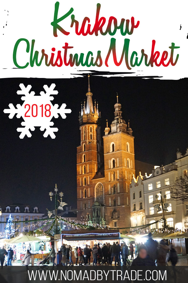 Krakow Christmas Market 2018 with text overlay