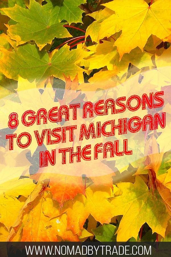 Fall leaves with text overlay
