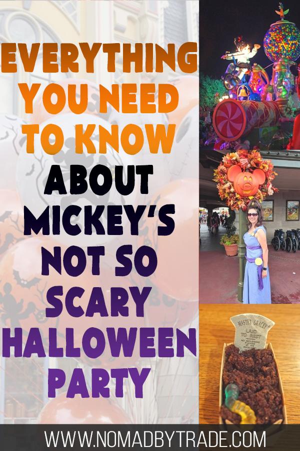 Mickey's Not So Scary Halloween Party images with text overlay