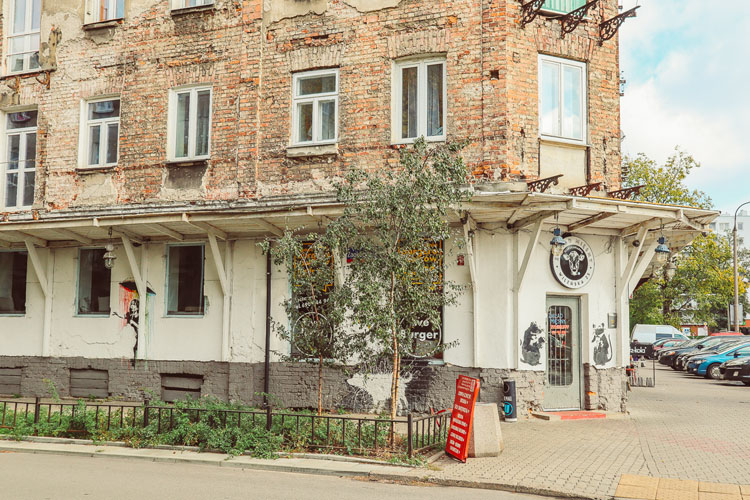 Building in Warsaw's Praga District