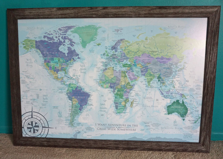 Decorate with a Custom Pushpin Travel Map • Nomad by Trade