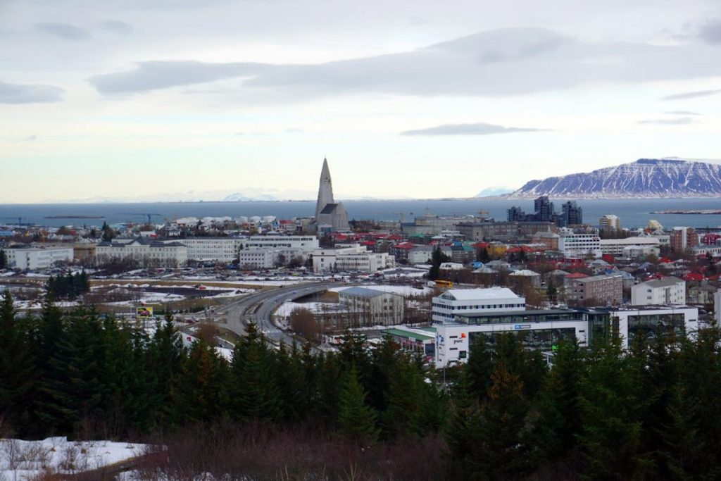 View of Reykjavik from Perlan - one day in Reykjavik