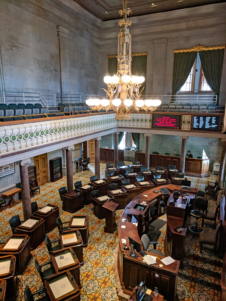 Tennessee Senate Chamber viewed from above