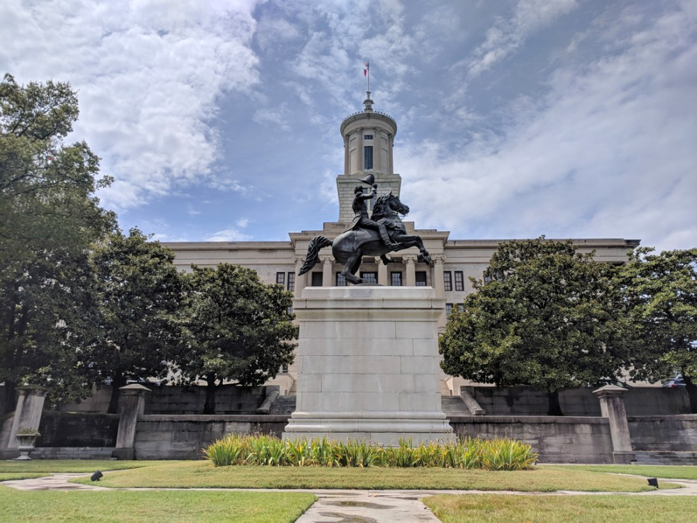 Statue in front of the Tennessee State Capitol Building