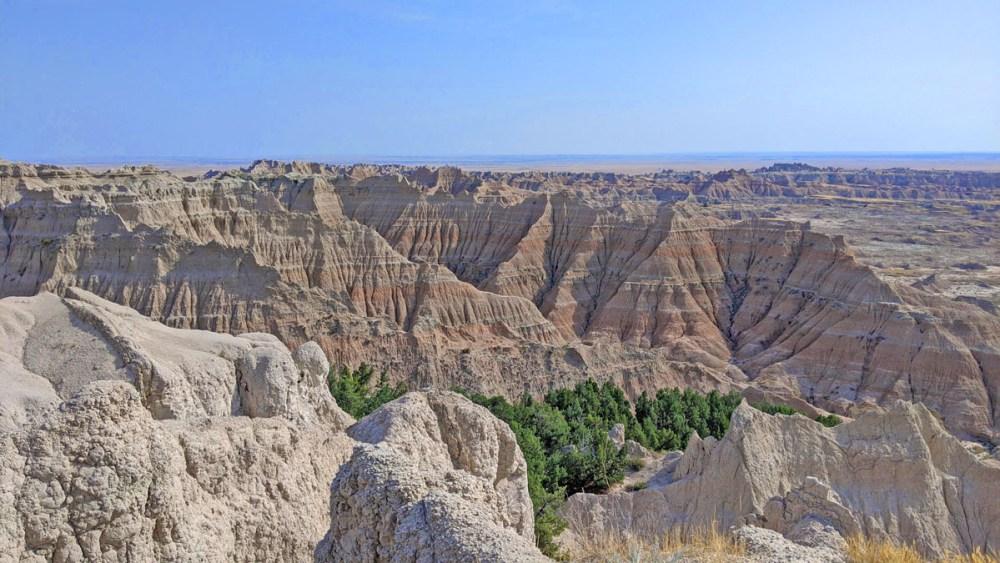 Rock formations in Badlands National Park