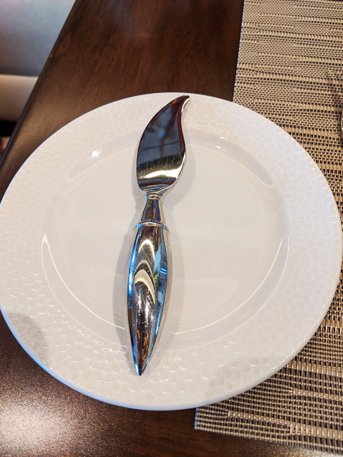 Paintbrush shaped butter knife at Topolino's Terrace