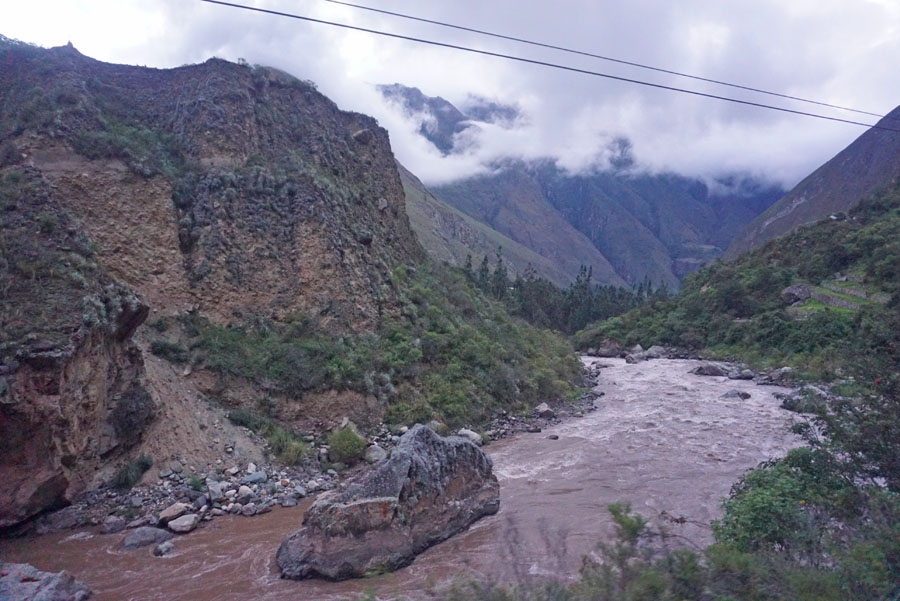 Urubamba River along the tracks of the train to Machu Picchu