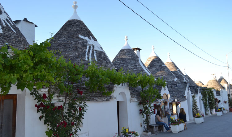 Cone shaped Trulli houses in Italy
