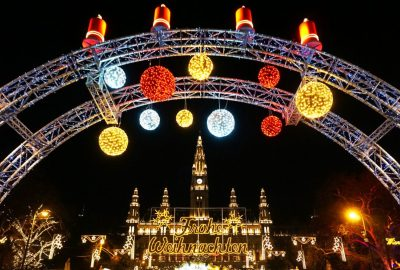 Christmas lights at the Best Christmas Market in Europe
