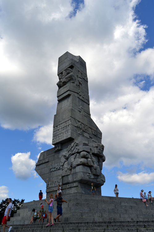 Tower marking Westerplatte where WWII began