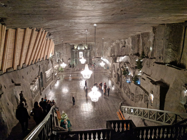 St. Kinga's Chapel underground in the Wieliczka Salt Mines