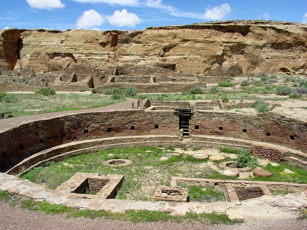 Ruins at Chaco Culture National Historic Park, a UNESCO World Heritage Site in New Mexico