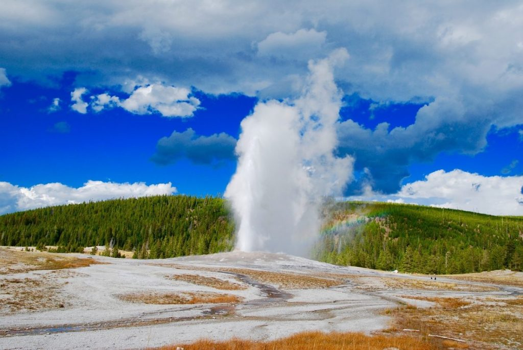 Geyser at Yellowstone National Park, a UNESCO World Heritage Site