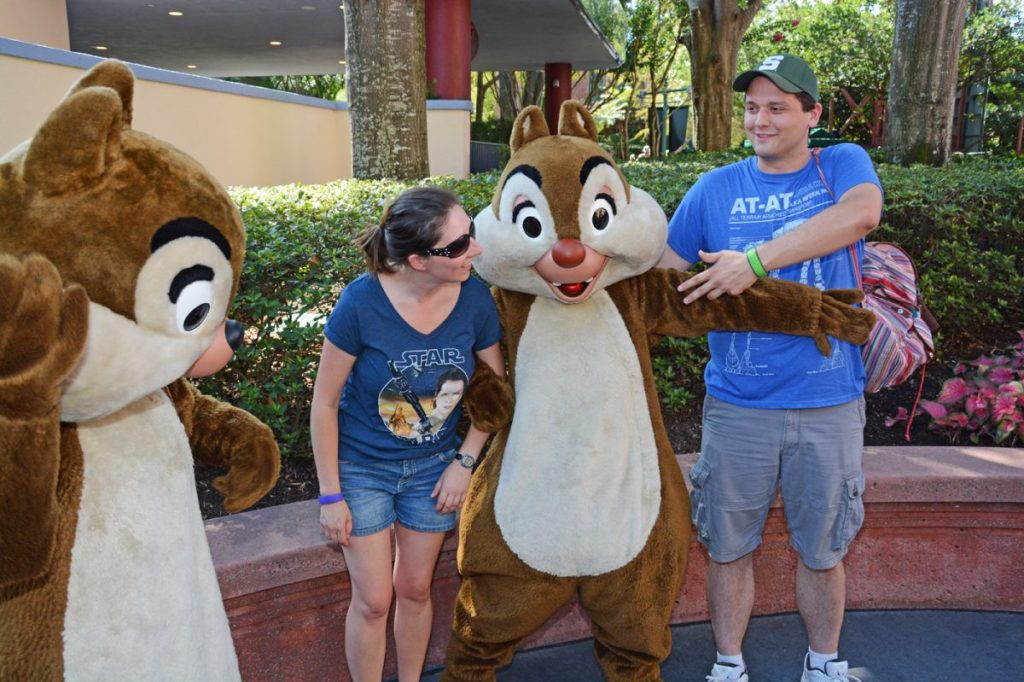 Chip and Dale at Hollywood Studios - use the My Disney Experience app to find the best character meet and greets