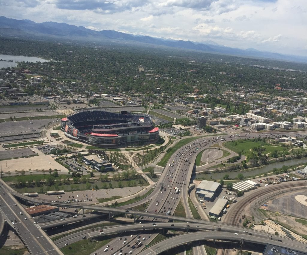 Mile High Stadium Aerial View