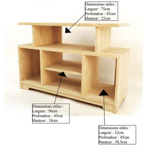 etagere tv simple moken