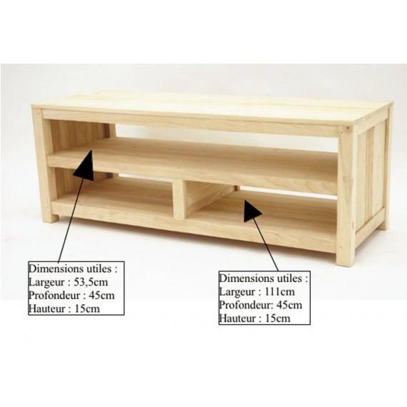 meuble tv 3 niches horizontales rapanui