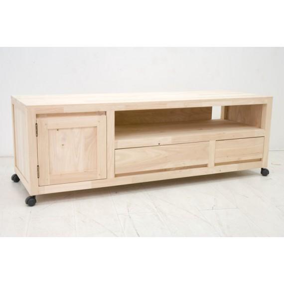 meuble tv grand modele sur roulettes sami