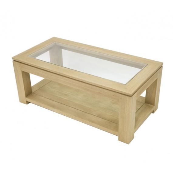 table basse rectangle petit modele vitree maya