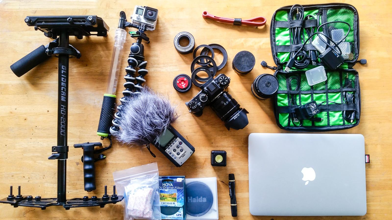 Mon matériel photo et vidéo de voyage