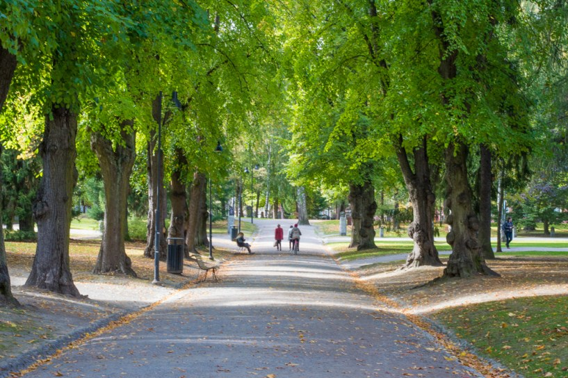 Kirkkopuisto, one of Tampere's many green spaces.