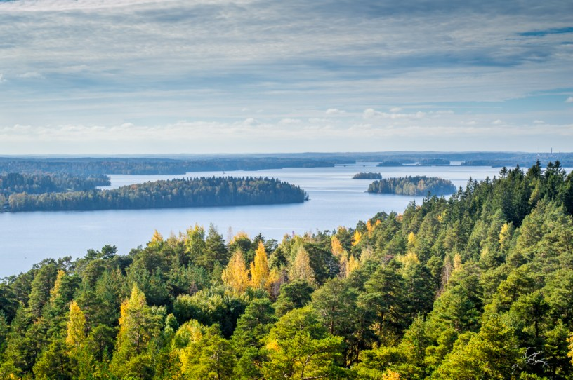 View from Pyynikki Observation Tower in Tampere.