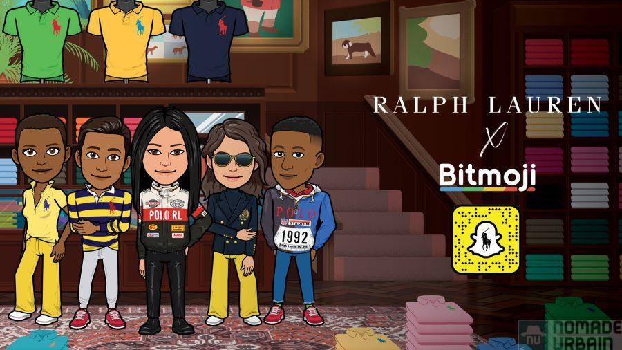 Ralph Lauren et Snapchat, la première garde robe virtuelle fashion pour Bitmoji