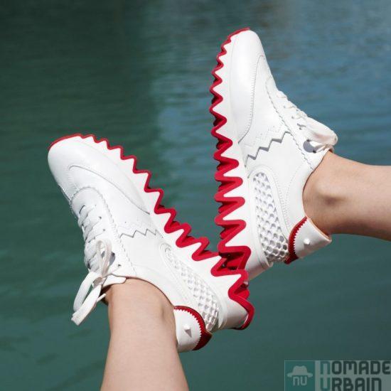 LoubiShark, des sneakers Louboutin de la languette à la semelle rouge !
