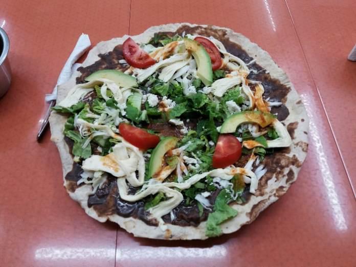 Mexican food Tlayuda