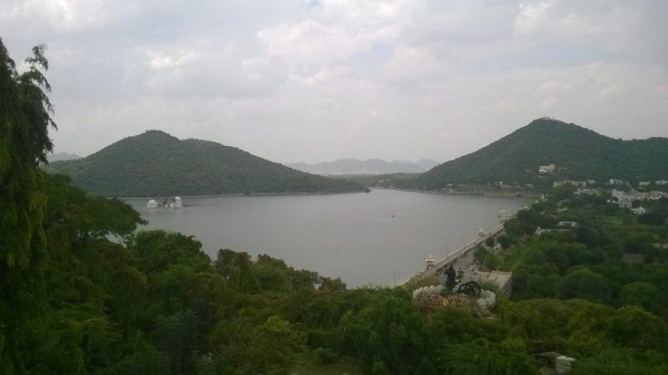 A View of Fateh Sagar Lake, Udaipur, Rajasthan