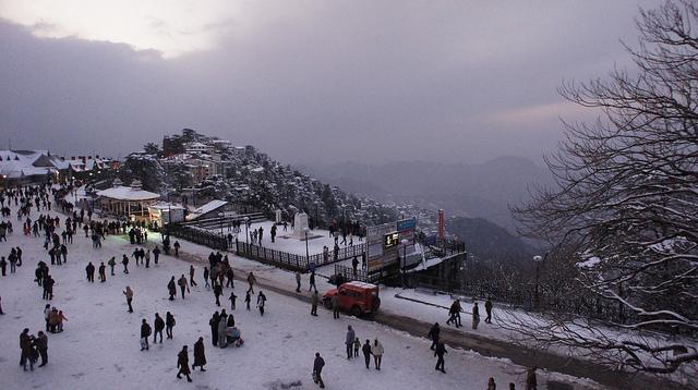 Snow Capped Shimla Himachal Pradesh