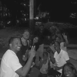 Con mi gente en la calle. Santo Domingo, Dominican Republic.