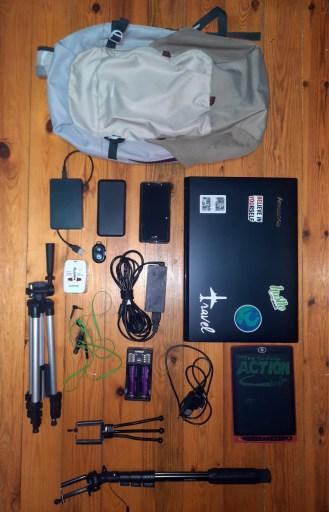 Digital Nomad packing electronics