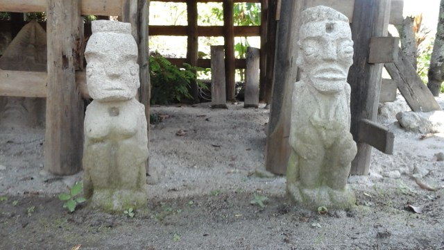 Lake Toba for Digital Nomads - Some of the statues around the Stone Chairs area